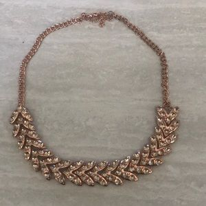 Baublebar Rose Gold Statement Necklacklace
